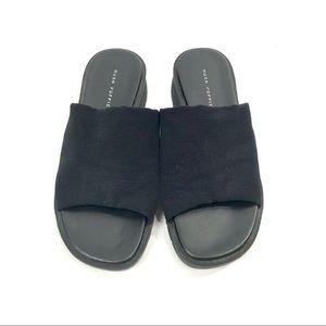 2390b3cca95 Hush Puppies Shoes - Vintage 90 s platform black stretchy slide sandals